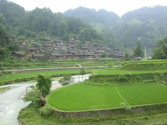 Китай. Кайли. Лейшань. Лангде - деревни этнических меньшинств