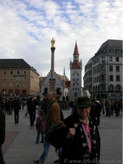 Германия, Мюнхен, площадь Мариенплатц
