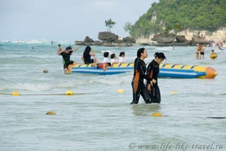 Филиппины, остров Боракай, на Белом пляже