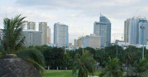 Филиппины, Манила, вид на город со стен Интрамуроса