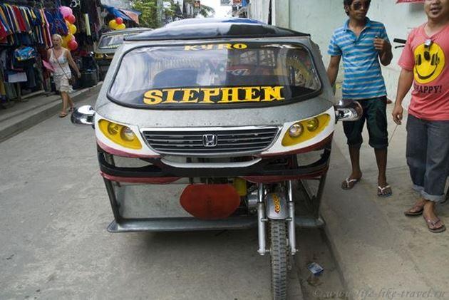 Филиппины, остров Палаван, Эль Нидо, трицикл