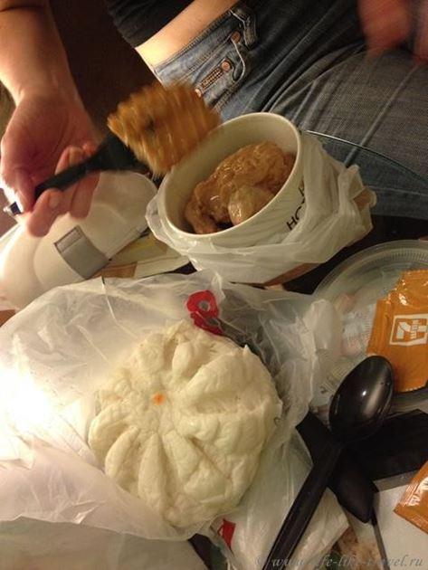 Siopai - китайские рисовые булочки с начинкой из острого мяса