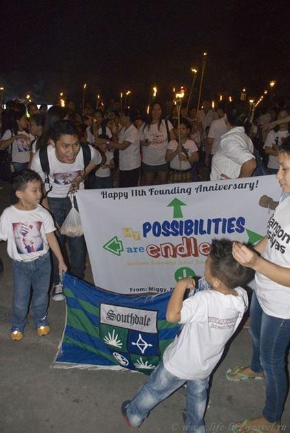 Уличное шествие, Думагете, остров Негрос, Филиппины