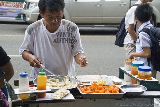 Типичная филиппинская еда - фритюр, Филиппины
