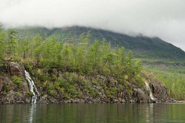 Водопады, Озеро Лама, Плато Путорана, Таймыр