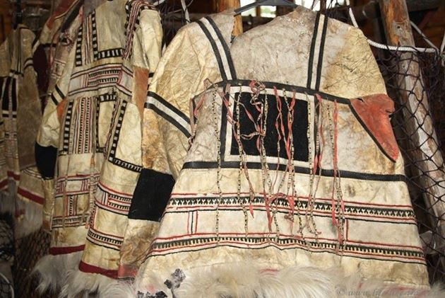 Одежда нганасан, музей на турбазе, Озеро Лама