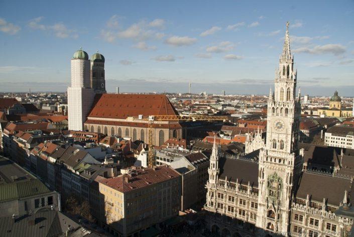 Вид на центр Мюнхена
