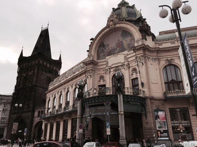 Прогулка по Праге: Муниципальный дом и Пороховая башня