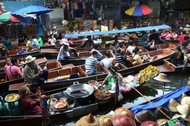 плавучий рынок в Патайе