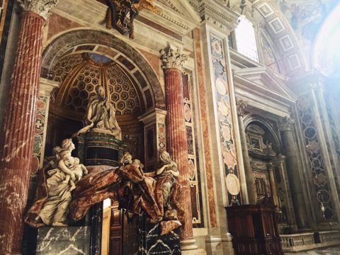 Ватикан, собор Св. Петра и капелла, Италия летом