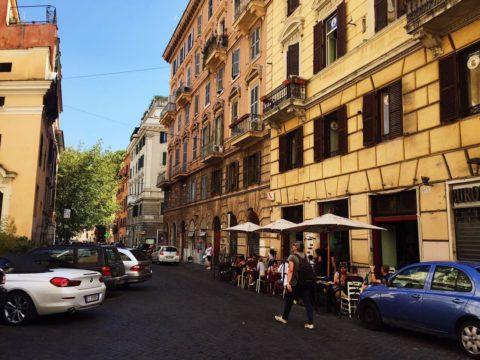 Район ресторанов Трастевере, Рим, Италия