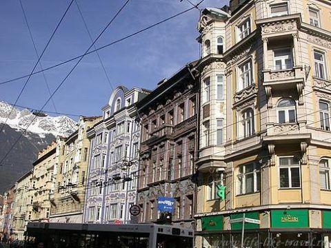 Австрия, Инсбрук, улицы города