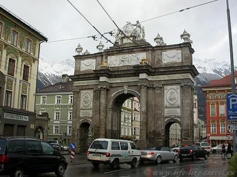 Австрия, Инсбрук, Триумфальная арка