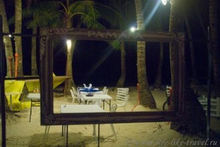 Филиппины, остров Боракай, Ужин в прибрежном ресторане