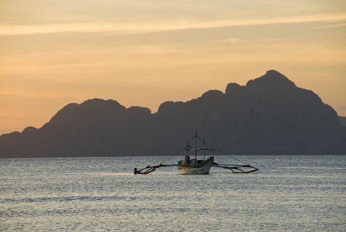 Филиппины, Эль Нидо, Закат на пляже Корон-Корон