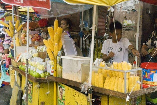 Типичная филиппинская еда - кукуруза, Филиппины