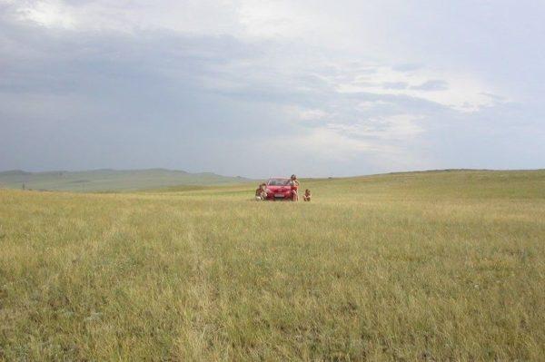 На автомобиле по степям Хакасии: поселок и озеро Шира, Туимский провал, озеро Беле