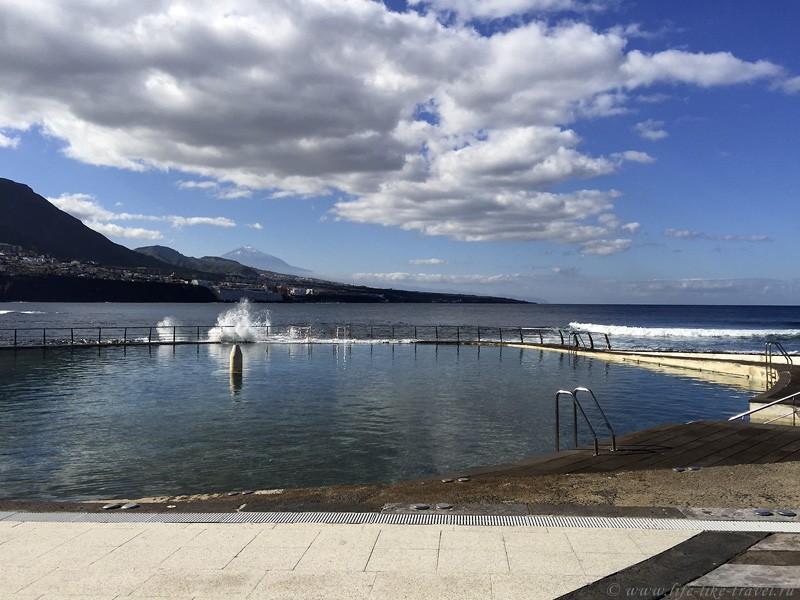 Зима на Тенерифе, Атлантический океан и натуральные бассейны