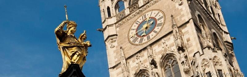 Новая Ратуша, Колонна Девы Марии, Мюнхен