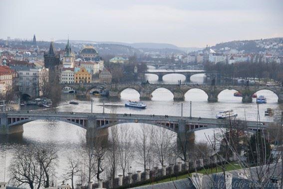 Прага Марины Цветаевой: вид на Прагу с холма Летна