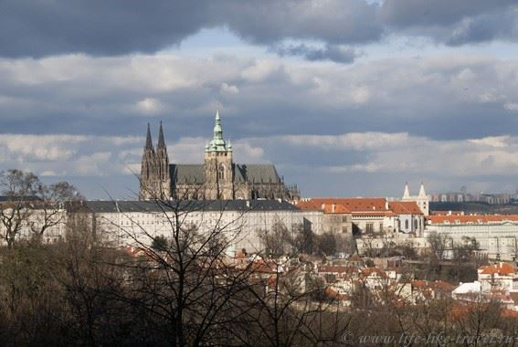 Прага Марины Цветаевой: вид на Градчаны с холма Петржин