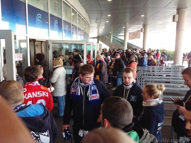Чешские болельщики перед хоккейным матчем