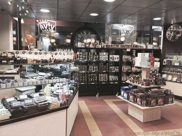 Магазин бельгийского шоколада Прага