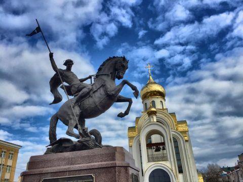 Иваново Памятник Георгию Победоносцу
