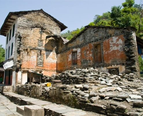 Непал, Покхара, начало тека к базовому лагерю Аннапурны