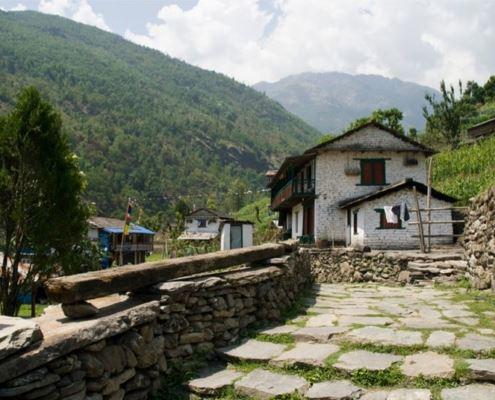 Непал, Гималаи, Биретанти (Birethanti), трек к базовому лагерю Аннапурны ABC