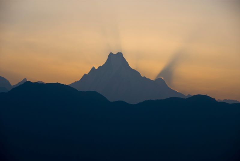 Мачапучаре (Рыбий Хвост), Непал, Гималаи, трек к базовому лагерю Аннапурны ABC