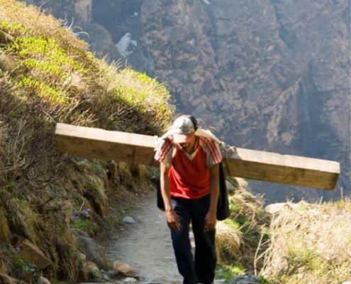 Портер, Непал, Гималаи, трек к базовому лагерю Аннапурны ABC