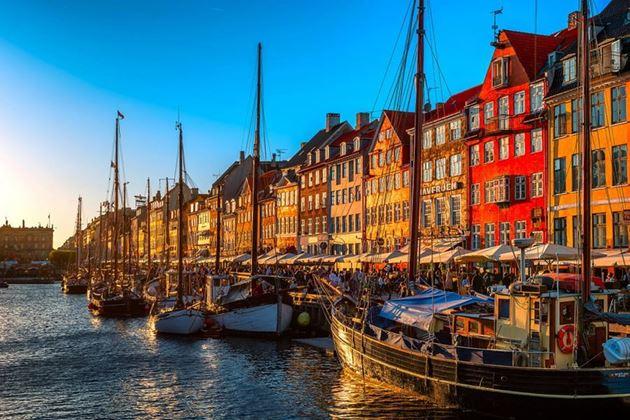 Набережная Нюхавн, Копенгаген, Дания