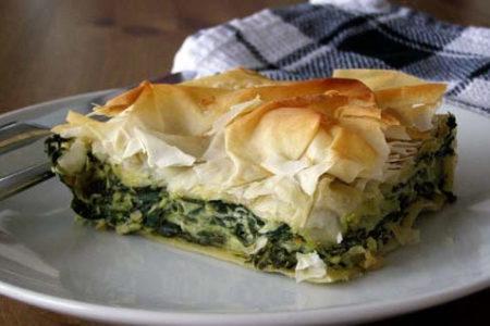 Албанский пирог со шпинатом — рецепт
