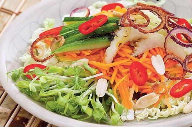 Гадо-гадо (овощной салат с соей и фасолью) - рецепт индонезийской кухни
