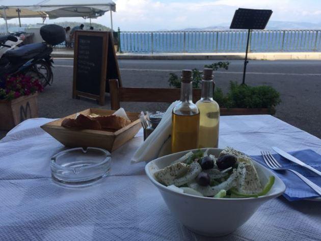 Греция, Корфу, греческий салат