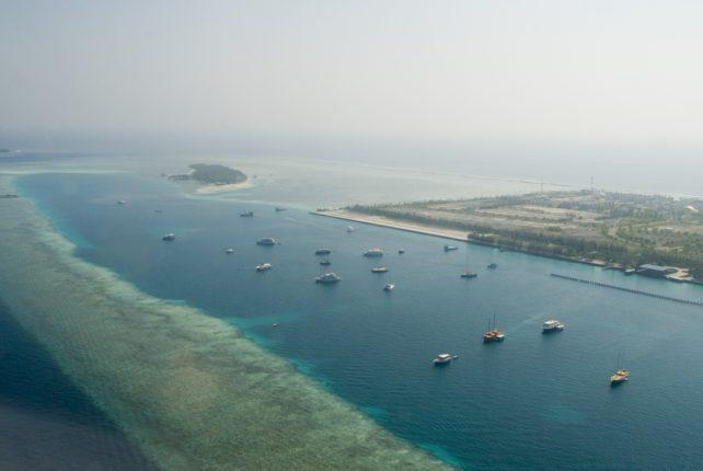 Мальдивские острова с высоты Мальдивы