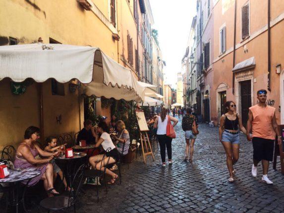 Рестораны Трастевере, Рим, Италия