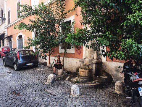Улочки Трастевере, Рим, Италия