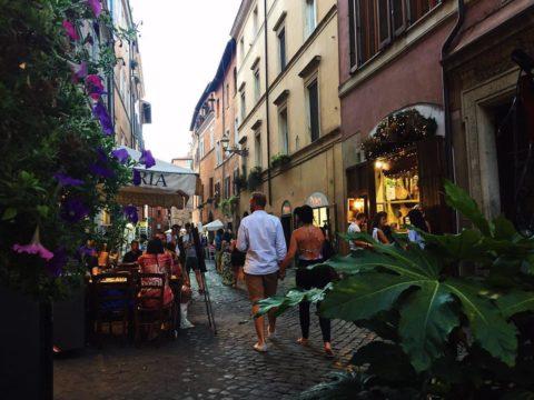 Улицы Трастевере, Рим, Италия