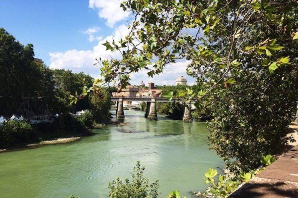 Мост в Трастевере, Рим, Италия