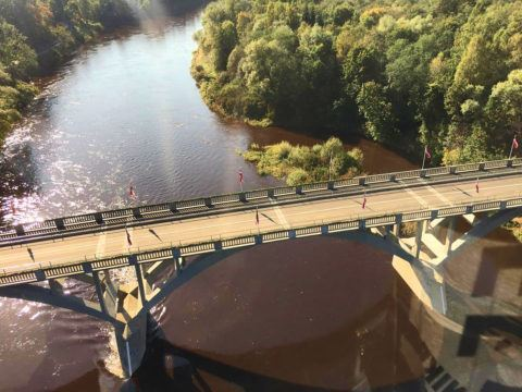 Мост через Гаую, Сигулда, Латвия