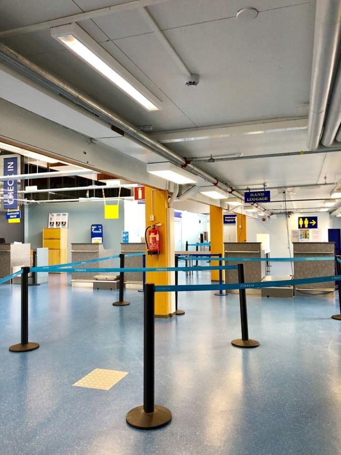 Тампере, Финляндия. Аэропорт, терминал Ryanair